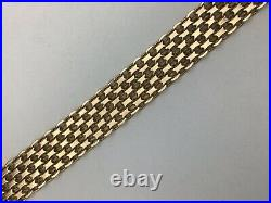 14k Yellow Gold Mesh Wide Bracelet
