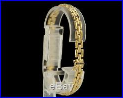 14k Yellow Gold Panther Link Bracelet 7 5.8 grams 6.5 mm Wide