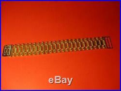 14k Yellow Gold Rolex Link Bracelet Chain Necklace 43.7grams 26mm 1 wide