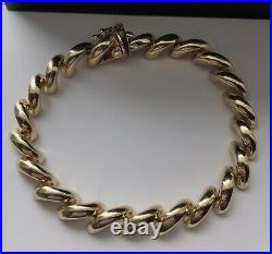 14k Yellow Gold San Marco Bracelet 7mm wide 7