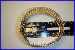 14k Yellow Gold Vintage Retro Art Deco Bold Wide Flexible Bracelet, 32.6 Grams
