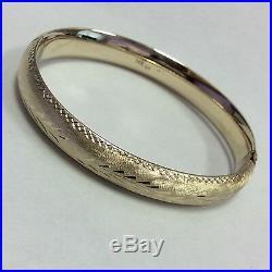 14k Yellow Gold Wide Bangle Bracelet