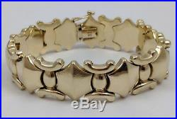 14k Yellow Gold Wide Bracelet