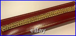 14k Yellow Gold Wide Byzantine Braided Tennis Chain Link Womens Bracelet 7 3/4