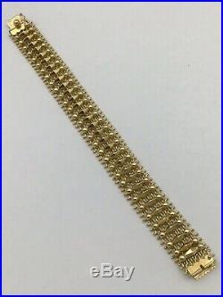14k Yellow Gold Wide Mesh Bracelet
