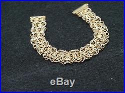 14k Yellow Gold Womens Bracelet 7.5 long, 5/8 wide 16 grams