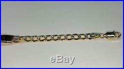 14k gold Cuban link baby ID bracelet 6 inches length 5.5 mm wide