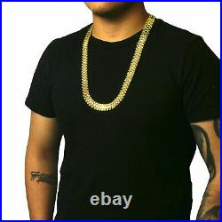 14k solid Yellow Gold Wide Rolex Link Style Chain Necklace 22,24,26,28 10 MM