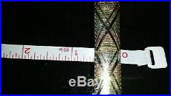 14k tricolor solid gold bracelet, cleopatra Design, 1/2 wide, 7 1/4