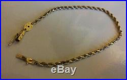 14k yellow gold ladies Rope bracelet 3.35 gr 2mm wide 7 1/2 Long (B97)