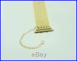 14kt Yellow Gold Mesh Italy Wide Bracelet 6 1/4 015726301