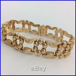 15.5mm Wide 18k Yellow Gold Bracelet 6 7/8