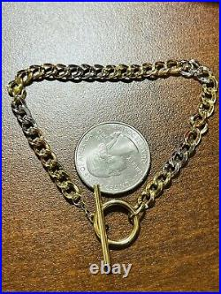 18K 750 Fine Real Saudi Gold 7.5 Long Womens Cuban Bracelet With 4.32g 4mm Wide