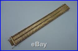 18K Yellow Gold 7.5 Long by 1 Wide Braided Bracelet
