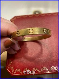 18K Yellow Gold Cartier Love bracelet, WIDE version, old screw design. Size 17