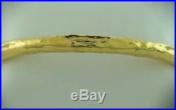 18K Yellow Gold Glamazon Ippolita Bangle Bracelet 10.4 grams 6mm wide 7 wrist