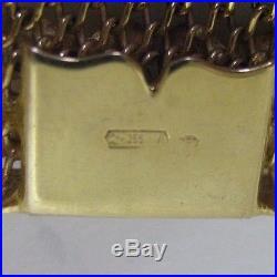 18 Carat GOLD WIDE FLEXIBLE LINK BRACELET Superb Quality