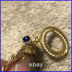 18k Gold Italy Wide Link Bracelet- 21 Grams