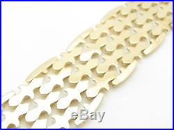 18k Rose Gold Vintage Antique Wide Hand Made Italian Bracelet Exquisite 35.5 Gr