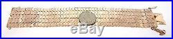 18k Rose Gold Wide Bracelet Half Moons Vintage Retro Estate Wide Estate 100 Gram