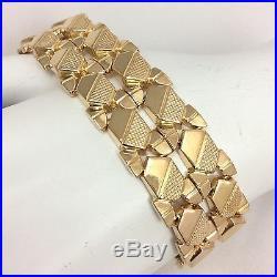 18k Yellow Gold 20mm Wide Bracelet