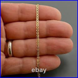 18k Yellow Gold 2.4mm Wide Mariner Link 7.5 Inch Bracelet