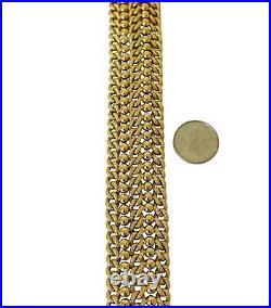 18k Yellow Gold 31.2g UnoAErre Wide Beaded Fancy Curb Link Bracelet Italy 7.5