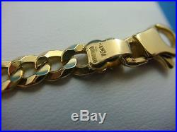 18k Yellow Gold Thin Solid Link Bracelet, 7.5 Inch Long, 7.5 Grams, 3.7 MM Wide