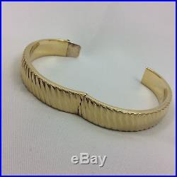 18k Yellow Gold Wide Bangle Bracelet