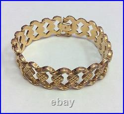 18k Yellow Gold Wide Bracelet