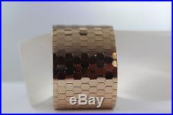 18kt Gold Wide Scale Bracelet