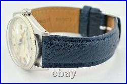 1962 Vintage Rolex Datejust Wide Boy Silver Dial 1601 36mm Watch Serviced