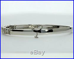 1.25CT Diamond bangle bracelet 14K withgold 37 round brilliant baguette 3/16 wide