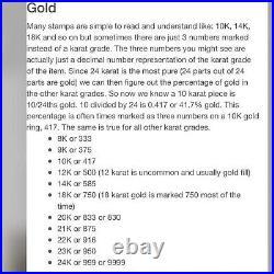 21K FINE Saudi Gold Fine Mens WOMEN'S Cuban Bracelet With 8 Long 6mm Wide 9.82g