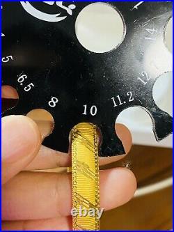22K Yellow Gold Fine 916 Womens Bracelet Bangle Xm/SM Fits 6-6,5 10.7g 9mm Wide