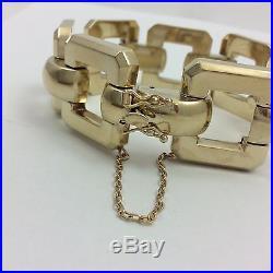 23mm Wide 14k Yellow Gold Bracelet