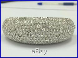 33.84Ct Wide Round Brilliant Cut Diamond Bangle/Bracelet E-F VS1 14k White Gold
