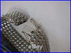 $50,000 Look 6 Carat White Diamond Wide White Gold 4 Row Bracelet 72% Off