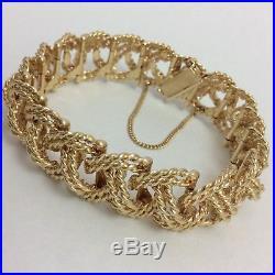 55.4 G 14k Yellow Gold Heavy 17mm Wide Bracelet