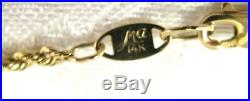 6.75 Heart Rope Bracelet 14K Gold Michael Anthony 2.9gr 1.5mm wide