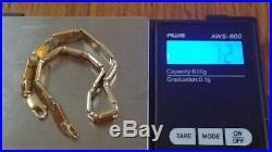 7.2 Gram 14k Solid Yellow Gold 8 Long X 1/4 Wide Link Bracelet