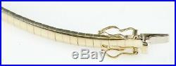 7 Omega Bracelet 14K Yellow Gold 4.15mm Wide 11.6 Grams Below Dealer Cost