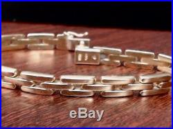 7 PANTHER LINK 6.1mm WIDE BRACELET REAL 14k YELLOW GOLD 14.5g (GP1009042)