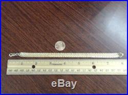 8 KITSINIAN MESH 8.4mm WIDE BRACELET REAL 14k YELLOW GOLD 9.2g (GP1019177)