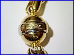 8 Solid 18k Yellow Gold Baraka 9mm Wide Anchor Box Link Bracelet Ball Clasp