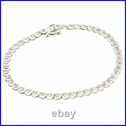 9Carat White Gold 7 0.25ct Diamond Tennis Bracelet (4mm Wide)
