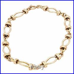 9Carat Yellow Gold 7.75 Fancy Link Bracelet (6mm Wide)