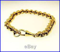 9Carat Yellow Gold 8.75 Patterned Rollerball Bracelet (9mm Wide)