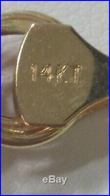 9 Gram 14k Yellow Gold 7 Long X 10 MM (3/8) Wide Triple Link Bracelet