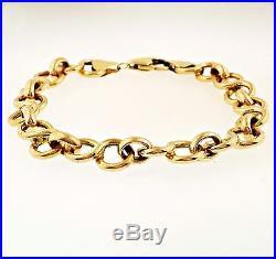 9carat Rose Gold 7.5 Fancy Belcher Bracelet 8mm Wide